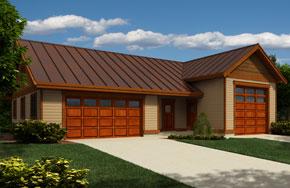 Garage Plan 1830, with RV parking and workshop