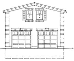 Garage Plan 704, double garage and workshop