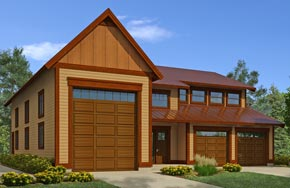 Regan Swallow Design - Plan 3909 - Garage, RV storage, workshop