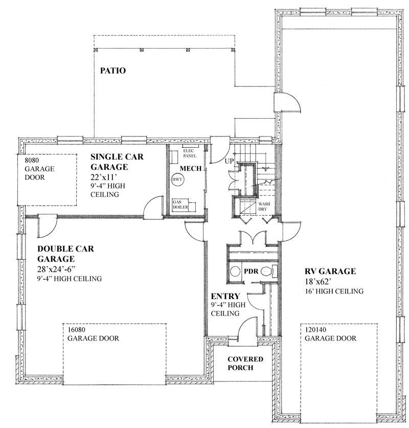 Plan 2740 regan swallow design ltd for Rv garage plans with apartment